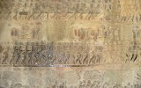 Sceny z mitologii na ścianach w Angkor Wat