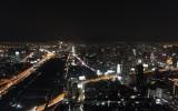 Panorama miasta z tarasu widokowego 84 piętra wieżowca Baiyoke Tower II