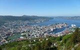 Widok Bergen z Fløyen