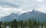Ośnieżone góry w środku lata