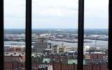 Widok z wieży na dzielnicę spichlerzy