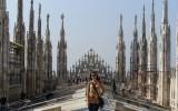 Na dachu Katedry Mediolańskiej