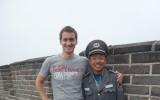 Strażnik w mundurze z czasów Mao Tse Tunga